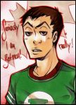 sheldon cooper aceo XD by XMenouX