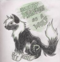 Danny Phantom as a wolf by DrawingMaster1