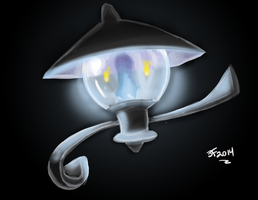 Lampent painting by farrellart