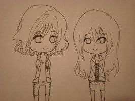 Request: Chibi Sisters sketch by SilverWinge