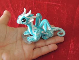 Little Dragon With Quartz Stone by TenshisCreations