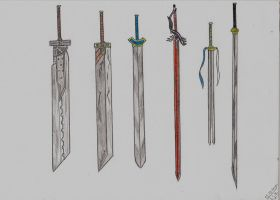 Final Fantasy VII - Swords by Shadica1stClass