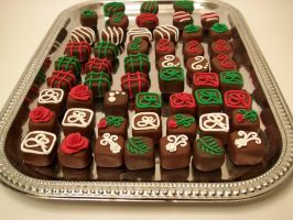 "Christmas ""Chocolate""  Magnets by FlyingFrogCreations"