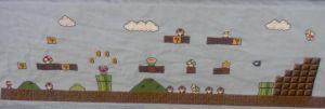 Huge Mario Cross Stitch WIP 4 by sgoheen06