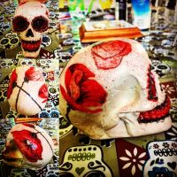 Coquelicot skull by DravenCAYM