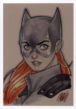 Head Sketch: Batgirl by redgvicente
