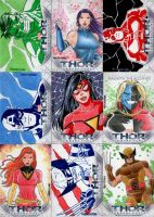 Thor 2 Sketch Cards set 2 by wardogs101
