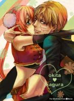 [art trade] okita x kagura by 0thefoolnever