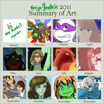 2011 Art Summary by ninja-doodler