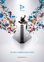 Advertising prizm music player by homeaffairs