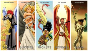 Angel bookmarks by thenumber42