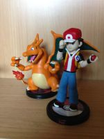 Clay Figure-Trainer Red with Charizard by DinoeArchelon