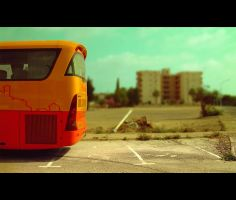 Orange Bus by PabloMonforte