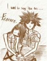 Kairi and Sora - Forever by Ice-Chrome