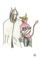 Art Trade 1 Grievous and Mew by evilblackbunny