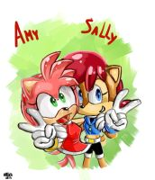 Amy and Sally by MAD-Ina