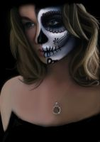 Sugar Skull - Self portrait by al-turnertive