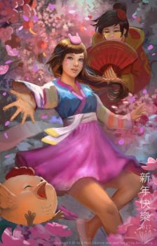 Overwatch Happy Chinese new Year by andyliongart
