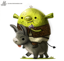 Daily Paint #993. Shrak (FA) by Cryptid-Creations