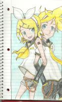 Rin and Len by verypen