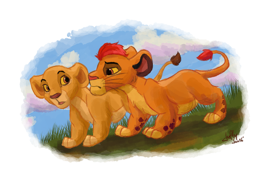 Kion and Kiara by Juffs