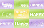 +Pack de Fonts [400 Watchers] by onlybestrong