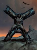 CONAN CRUCIFIXION-Dusk by benitogallego