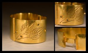 Foxtails Cuff by HappyThawts