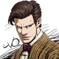 Digital Sketch Warm up 29 - The 11th Doctor by Vostalgic