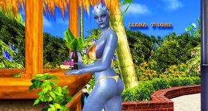 Liara T'Soni    POOL-QUEEN-2 by blw7920