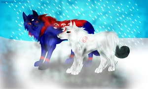Oki and Ammy X by MeowingWolf200