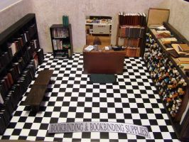 Bookbinder Diorama: All Three Rooms Mock-Up 1 by skphile