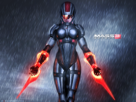 Mass Effect 3 FemShep Rain Edition Vol 2 by RedLineR91