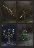 items  cards set toTajemnicze Domostwo by DartGarry