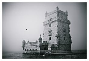Lisboa Belem Tower in BW by Yeoman2b