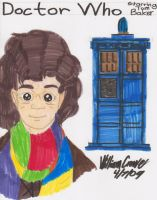 Tom Baker as Doctor Who by crowew78