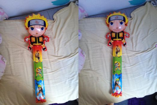 My NARUTO balloon by ABURAMEFANFOREVER