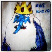 Napkin Art #68 - The Ice King - Adventure Time by PeterParkerPA