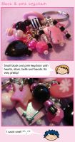 Black and pink keychain by fairy-cakes