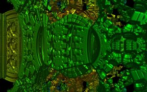 Raytraced Mandelbox Fractal 5 by mcsoftware