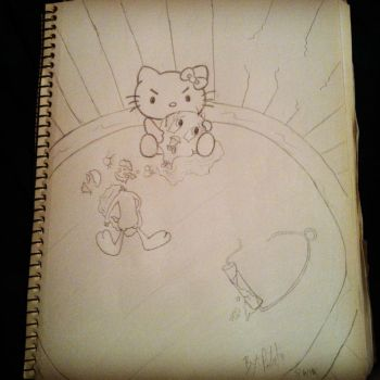 Hello Kitty ate Tweety by Piloo13