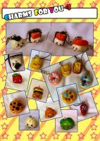 Clay Charms for you by mariloufrancisco