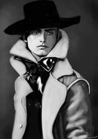 Man with a Hat on by Fatmalovestodraw