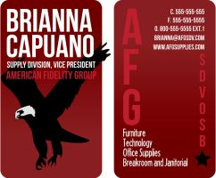 Business Card AFG Supply by JayFoxki