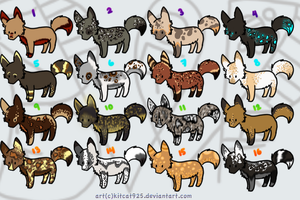 Random Canine adoptables by Blackwolfpaw