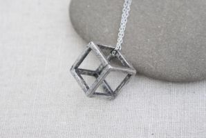 Geometric Necklace by MonsterBrandCrafts