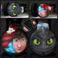 Commission - How to Train Your Dragon headphones by Lipwigs