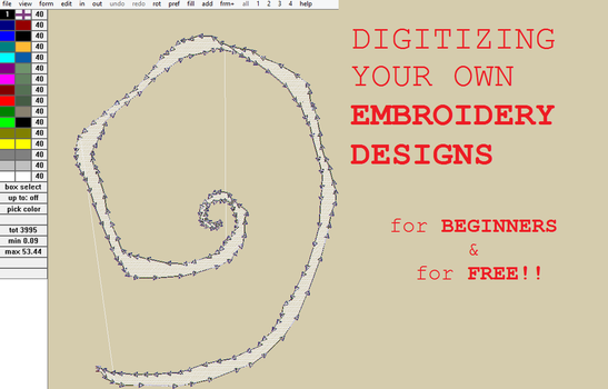 Digitize your own FREE Embroidery Designs how-to by smashfold