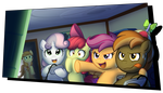 Button Mash and the Cutie Mark Crusaders by BuizelCream