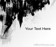 Abstract Grunge Strokes Background Vector Banner by 123freevectors